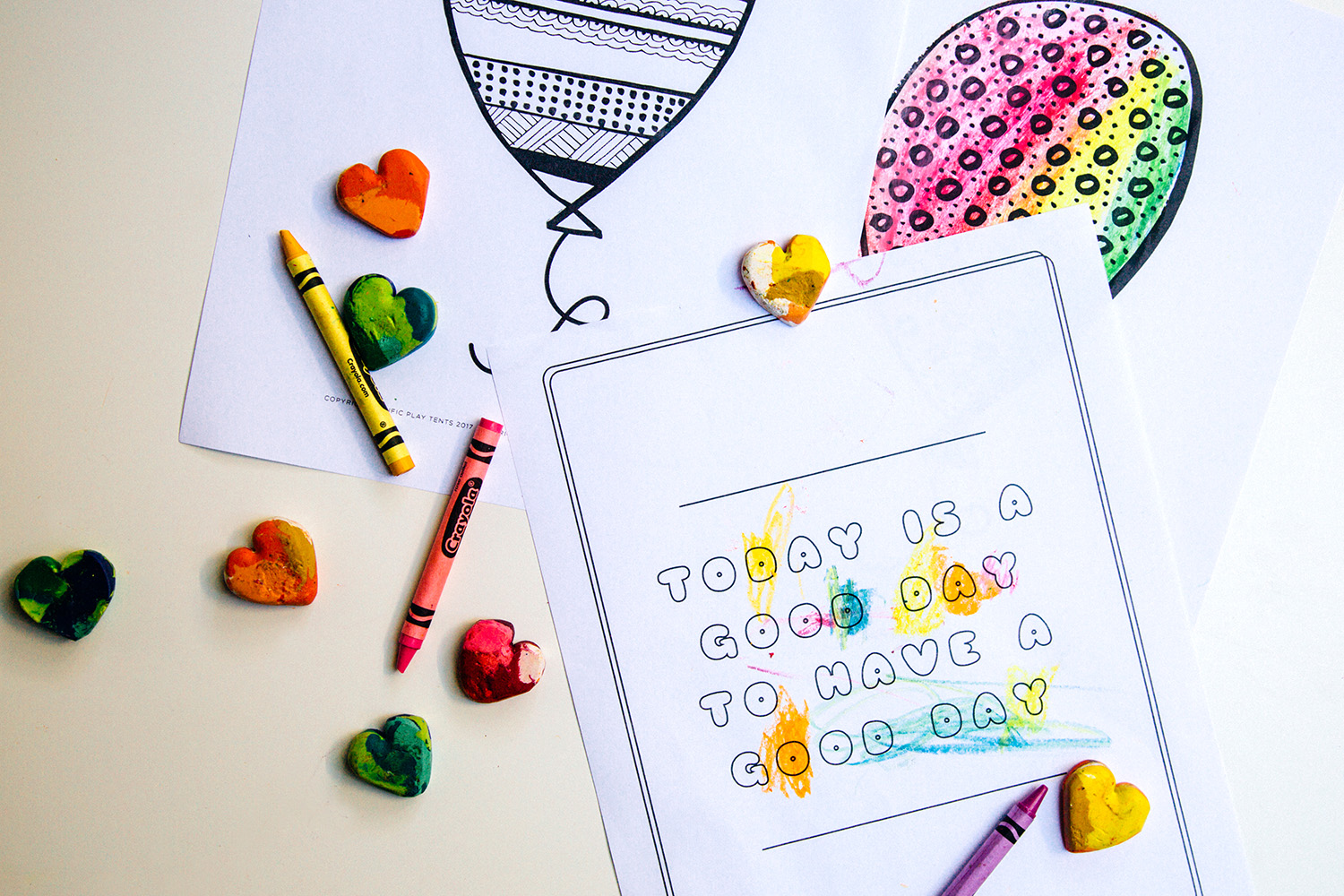 Balloon Tents + Free Coloring Page Printables