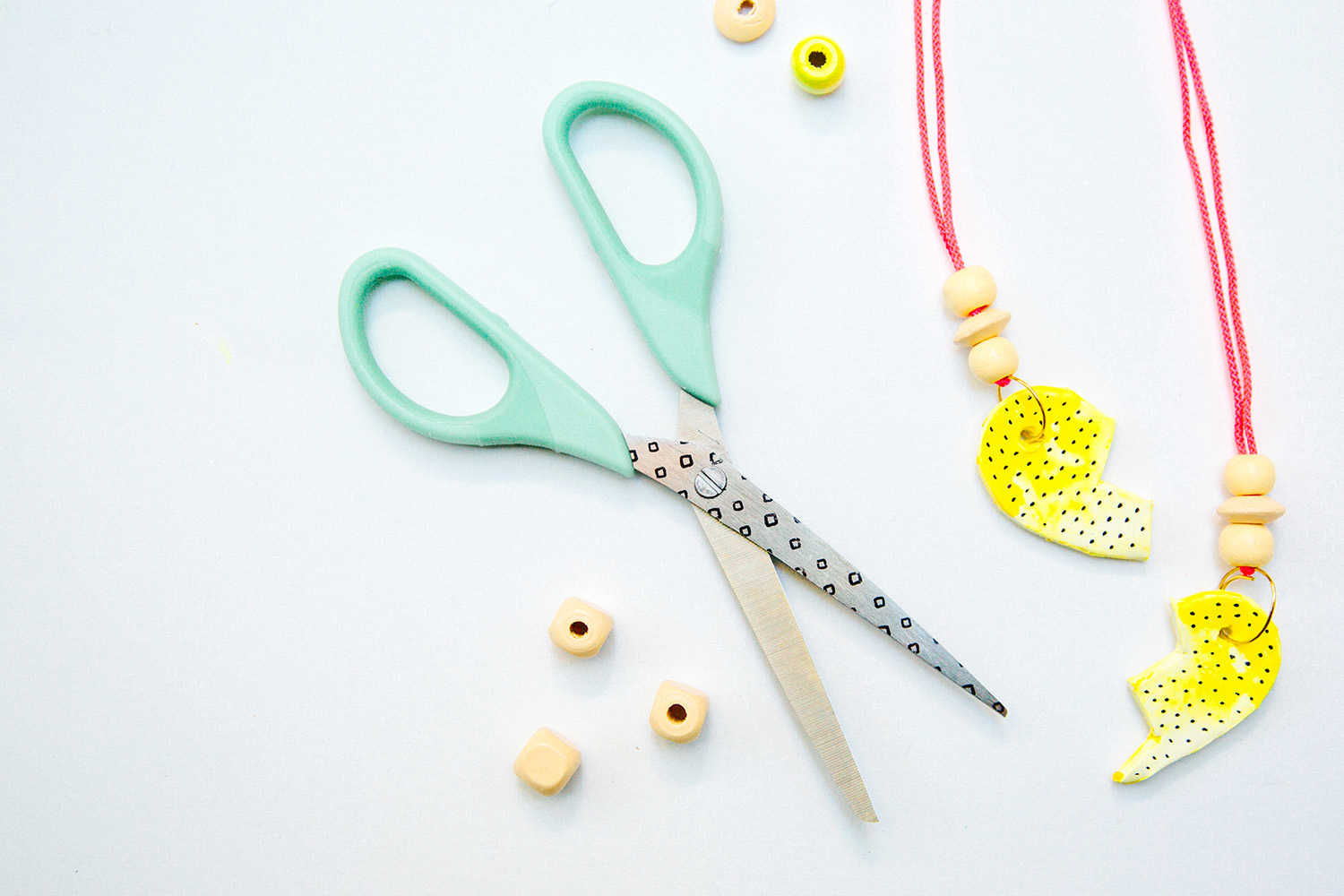 DIY Clay BFF Necklaces